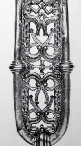 Scabbard decoration found in Nydam Mose