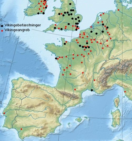 Viking attacks and the viking fortifications in the 800's, which certainly occurred