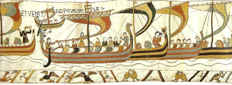 The Norman ships on the Bayeux Tapestry
