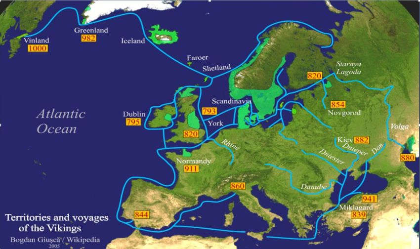 The Viking raids and settlements