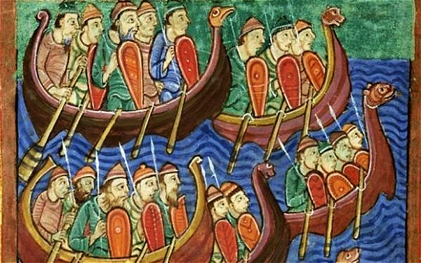 The Viking Invasion Of England Under Hinguar And Hubba