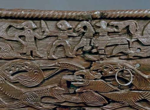Carving on the Oseberg cart