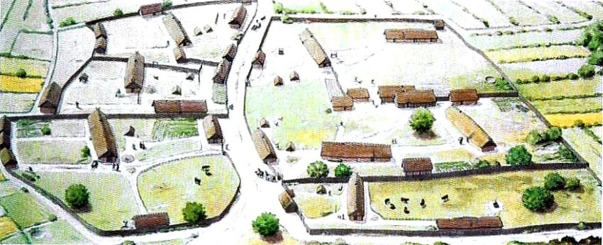 The village of Vorbasse in the Viking Age