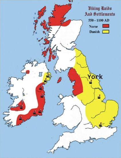 Viking areas in England