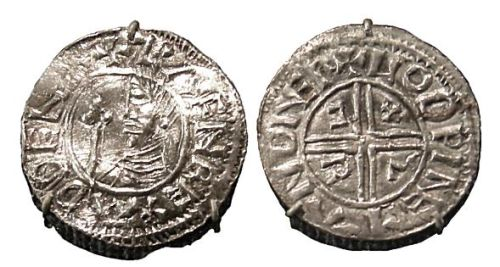 Coin with a portrait of Sweyn Forkbeard