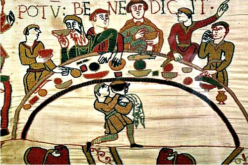Meal on the Bayeux Tapestry