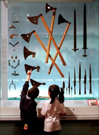 Viking weapons in London Museum