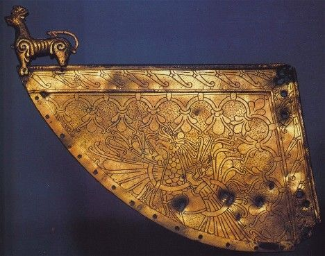 Gilded weather vane from a Viking ship