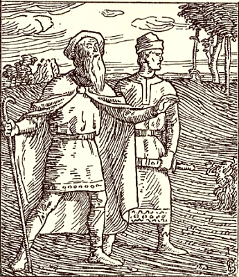 The Opland king Rørek and his kinsman Svein