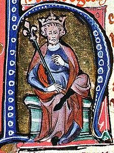 Canute in a medieval manuscript