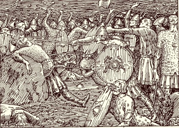 Olav's death in the battle of Stiklestad