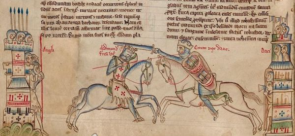 Canute battling Edmund Ironside