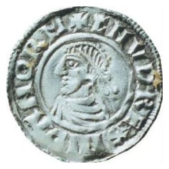Canute the Great on coin minted in Lund