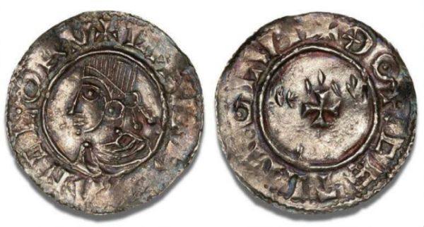 Canute the Great on penning minted in Lund