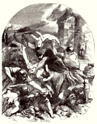 Old English drawing of the St. Brice's Day massacre