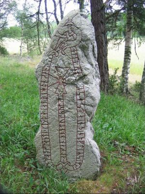 Runestone in Väsby, Uppland in Sweden