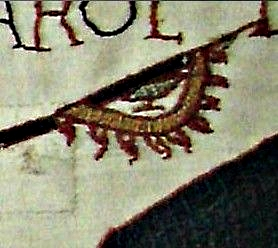 Raven banner on the Bayeux Tapestry enlarged