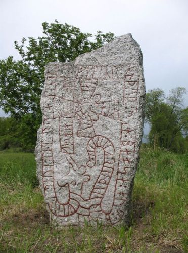 Runestone in Uppland in Sweden over men, who fell in England