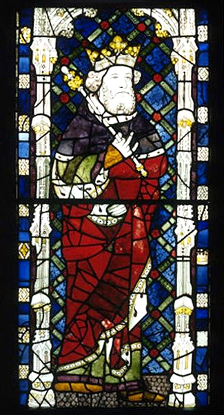Canute the Great as glass mosaic