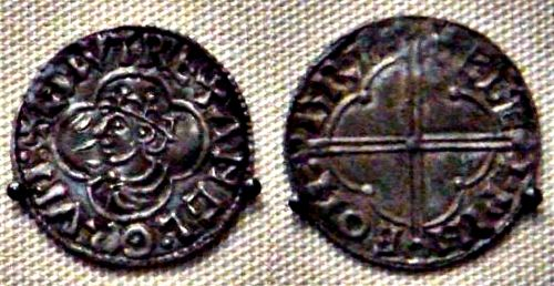 English coin minted by King Canute