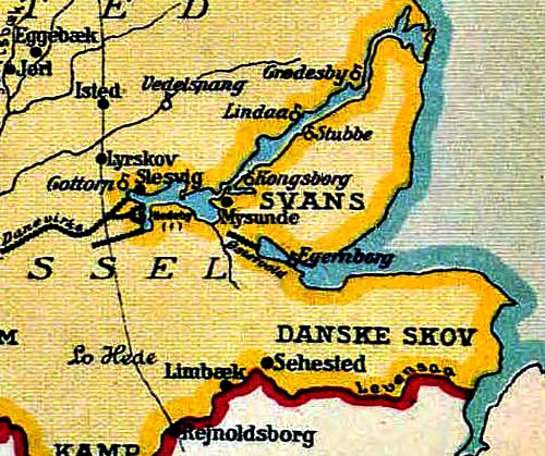 The location of Lyrskov Hede