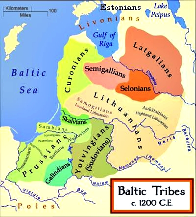 The Baltic tribes around 1200
