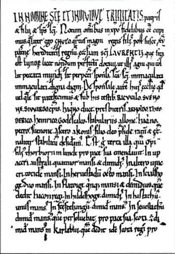 Canute's gift letter to the church in Lund