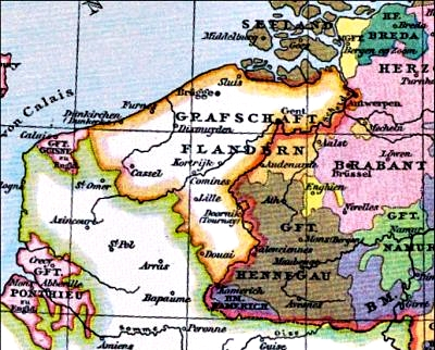 The Duchy of Flanders around 1400