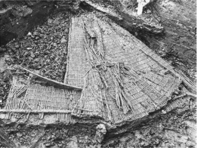 Fish trap of braided dogwood twigs from Bergschenhoek Netherlands
