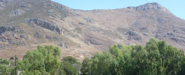 Typical Greek mountains on the island of Tilos