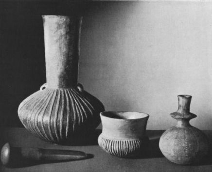 Examples of the Funnel Beaker Culture pottery