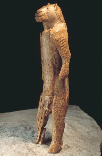The Lion Man from  Hohlenstein-Stadel cave in the Swabian Alps from 30,000 years ago