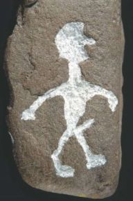 Petroglyph on a stone from Truehøjgård in Himmerland