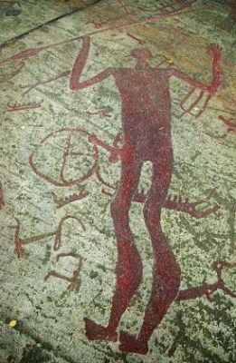 The spear-god's rock carvings
