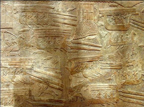Phoenician ships supply timber to Babylon