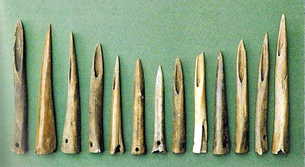 Spear tips of bone found in Kildebæk Mose