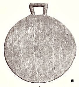 Cutting plate of wood from  Hjortspring