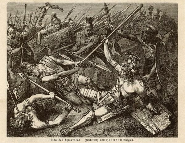 Spartacus death in the battle of Petelia 71 BC