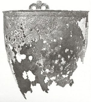 Celtic bronze bucket from Kjeldby on Moen