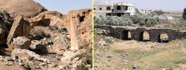 Ruins of Roman bridges in Syria