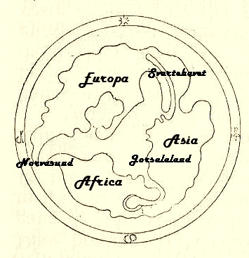 World map from the early Middle Ages