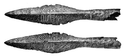 Lance tip with runic inscriptions found near Kovel in the northwest corner of Ukraine