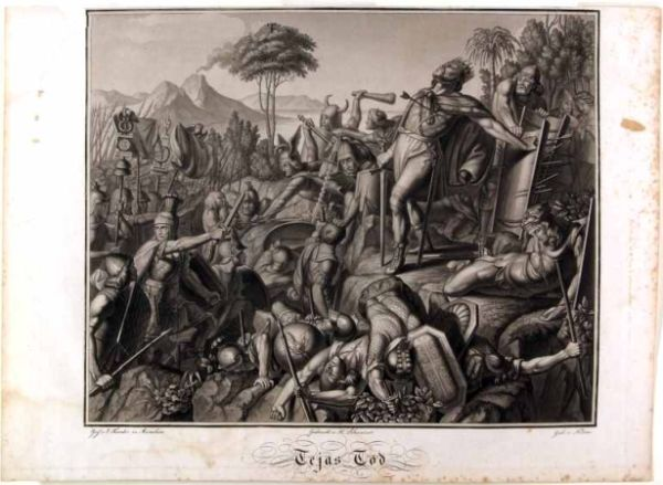 Teja's death in the Battle of Mons Lactarius