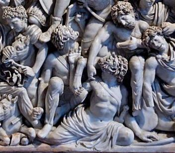 Detail of the Ludovisi sarcophagus
