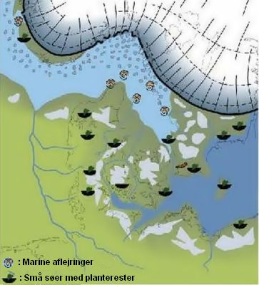 Denmark at end of the last ice age, which was the Weichsel glaciation