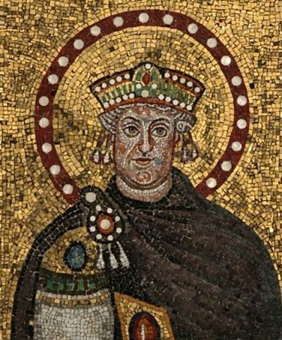 Mosaic in St. Apollinare Nuovo church in Ravenna depicting Theodoric the Great
