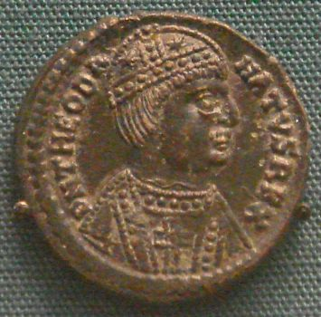 Portrait of Theodahad on coin