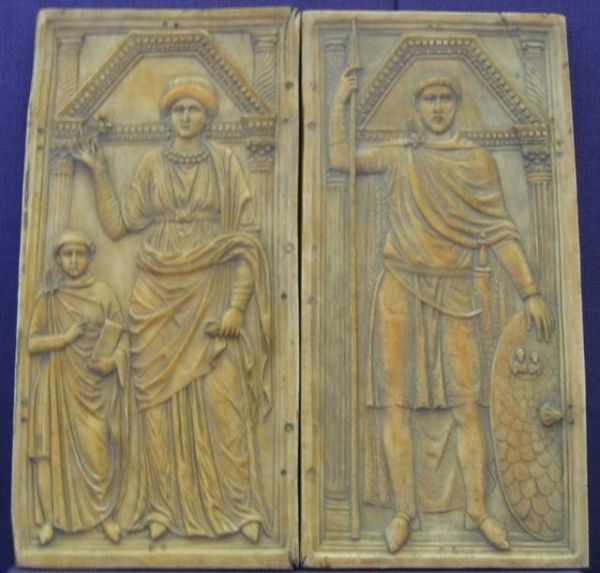 Stilicho and his wife and son