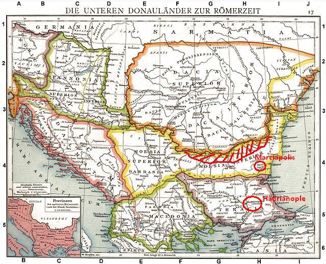 The lower Donau provinces  in Roman times