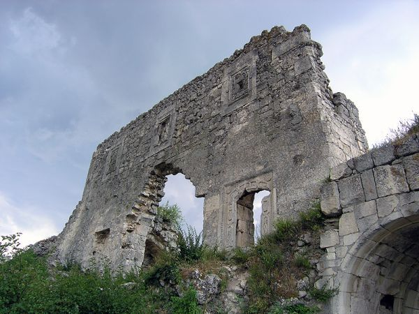The ruins of the Gothic Mankup fortress in the Crimea